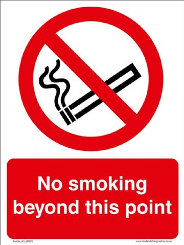 No smoking beyond this point